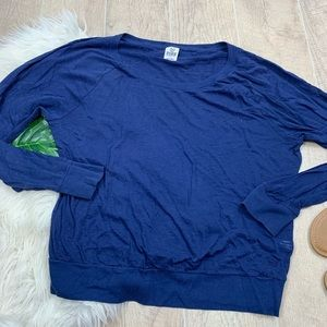 PINK VS Blue Long Sleeve Burnout T-shirt Top D3003